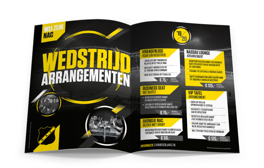 NAC advertentie in Issue - ontwerp door vdS creatie