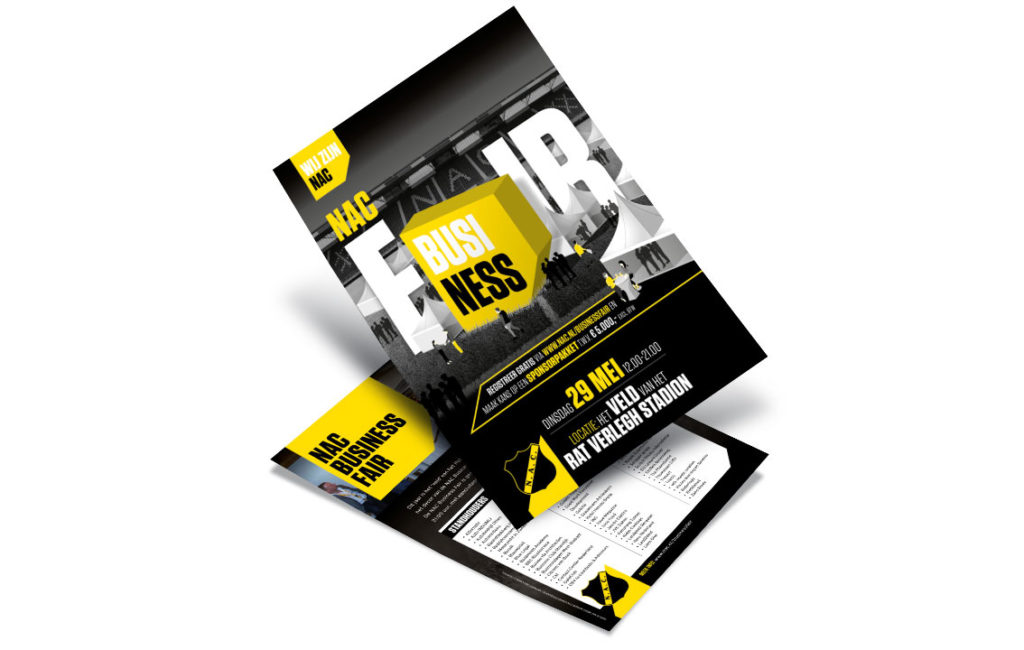 NAC Breda Business Fair flyer ontwerp door vdS creatie.