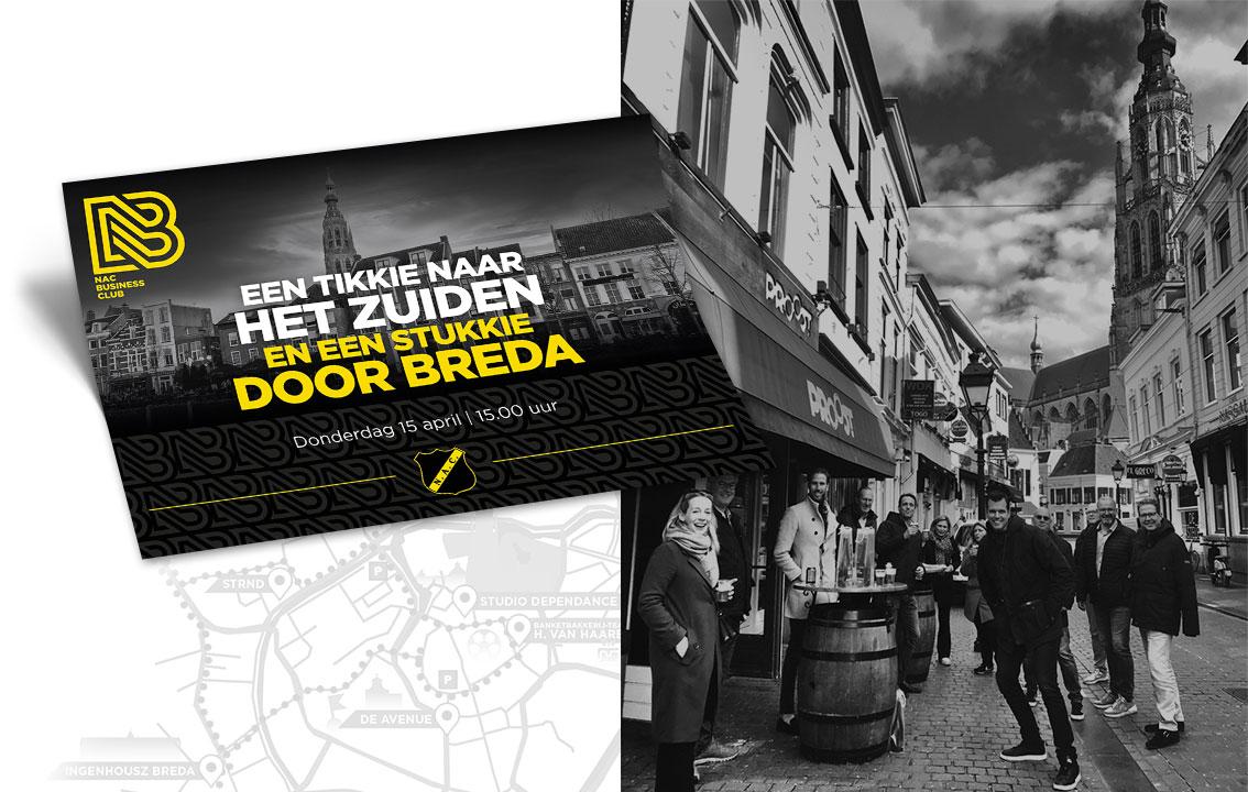NAC Business Club Flyer ontwerp door vdS creatie Breda
