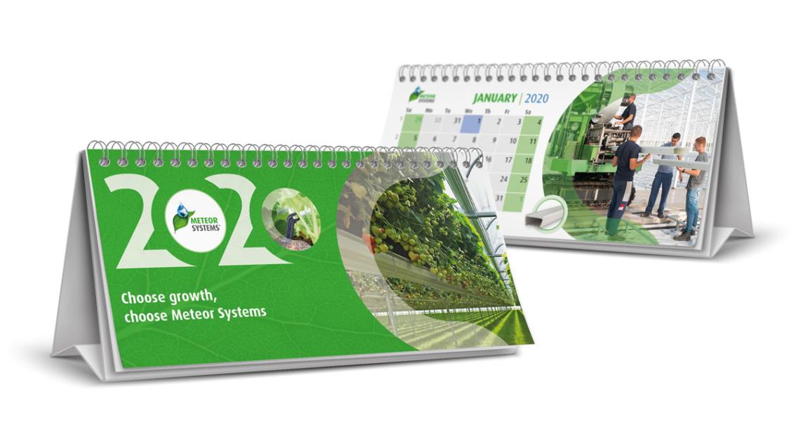 Kalender ontwerp Breda - Meteor Systems - door vdS creatie