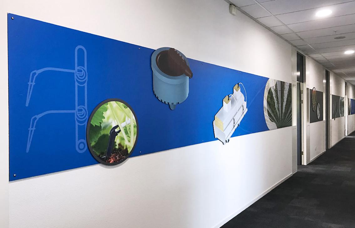 Kantooraankleding en wanddecoratie door vdS creatie Reclamebureau Breda