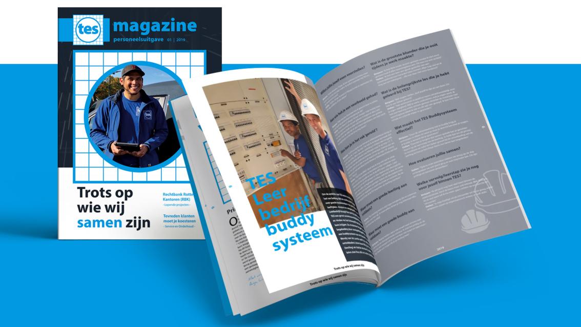 Magazine ontwerp Breda - TES Installatietechniek - door vdS creatie