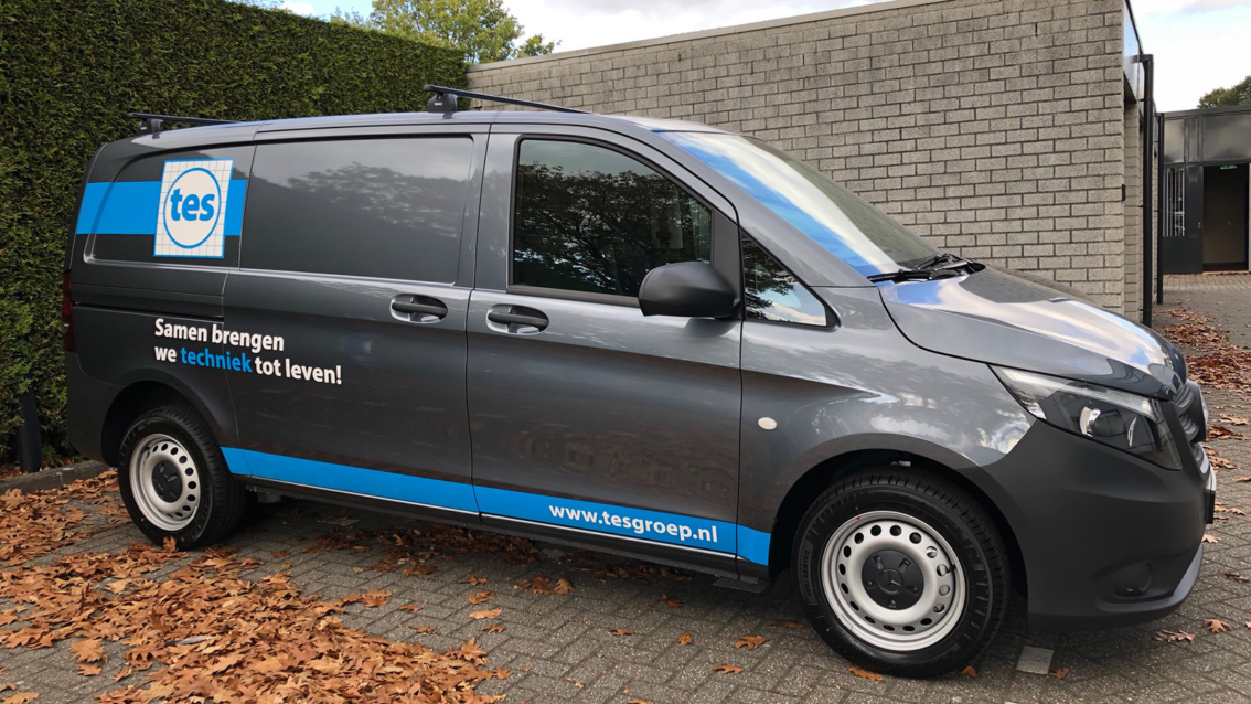 Autobelettering Breda - TES Installatietechniek - door vdS creatie