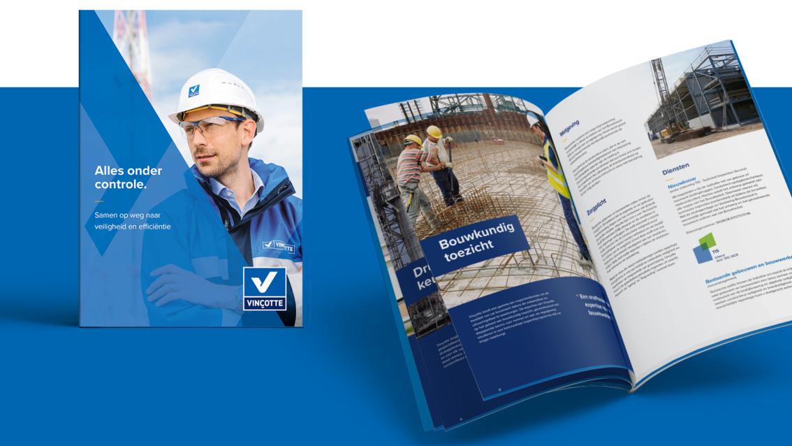 Folder ontwerp Breda - Vinçotte Nederland - door vdS creatie