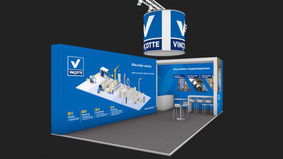 Beursstand ontwerp Breda - Vinçotte Nederland - door vdS creatie