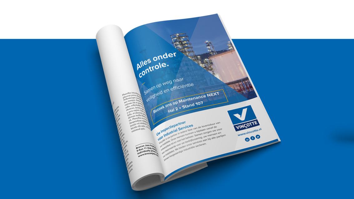 Advertentie ontwerp Breda - Vinçotte Nederland - door vdS creatie