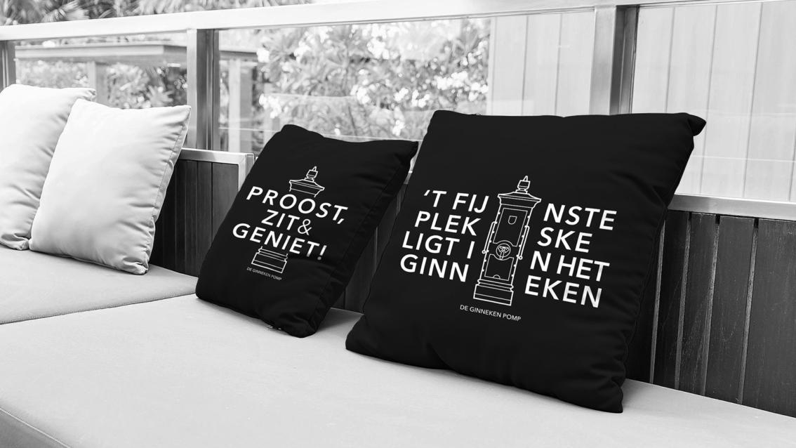 Kussen ontwerp - De Ginneken Pomp - door vdS creatie