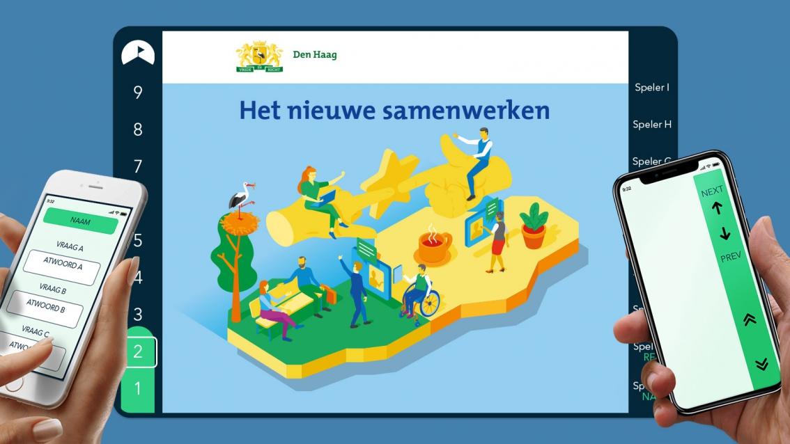 RoadMapp ontwerp Het nieuwe samenwerken - Gemeente Den Haag - De Koers - door reclamebureau vdS creatie Breda