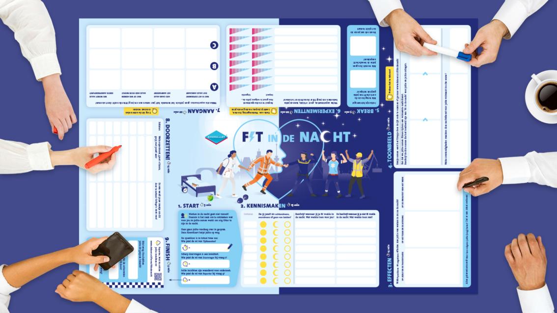 Koerskaart ontwerp Erasmus MC- De Koers - door reclamebureau vdS creatie Breda