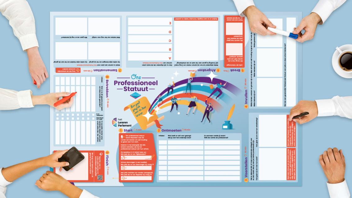 Koerskaart ontwerp Het Leraren Parlement - De Koers - door reclamebureau vdS creatie Breda