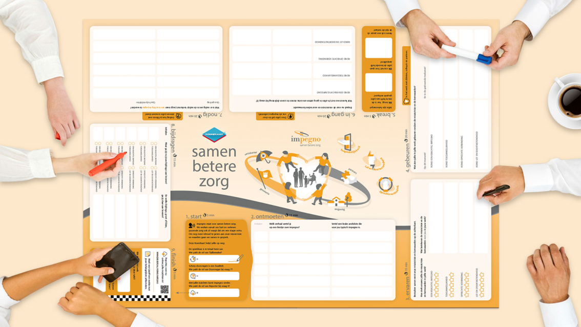 Koerskaart ontwerp impegno - De Koers - door reclamebureau vdS creatie Breda