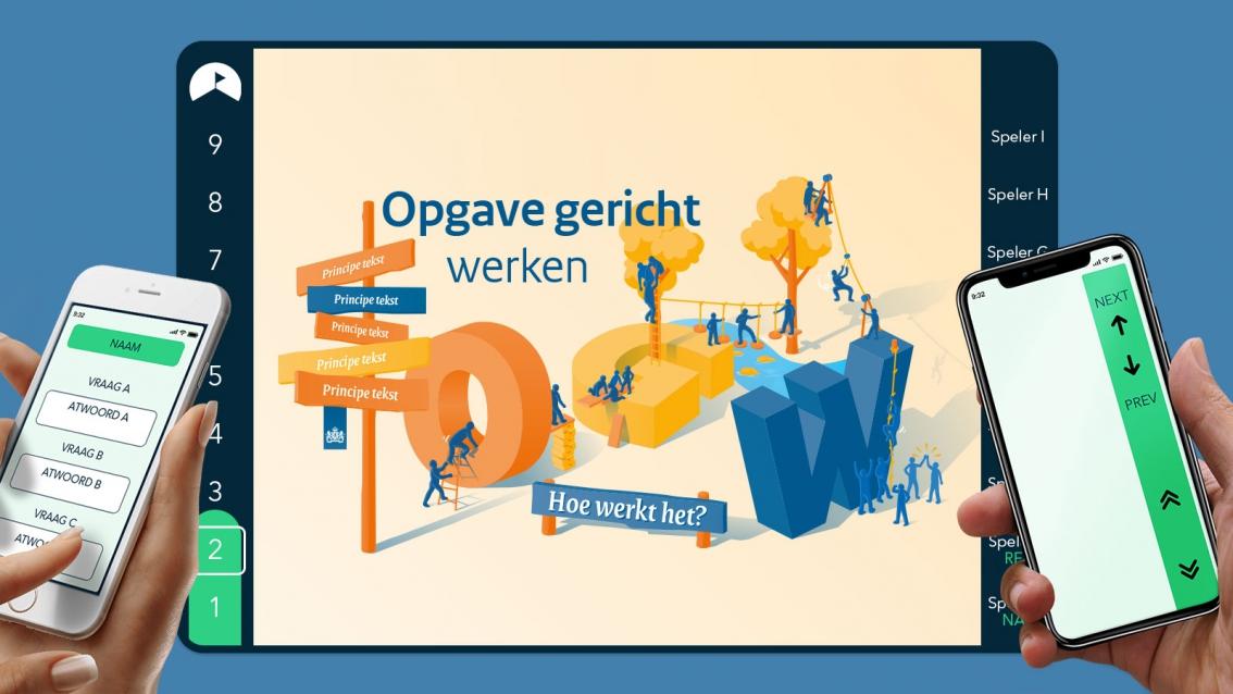 RoadMapp ontwerp Opgave gericht werken - Rijksoverheid - De Koers - door reclamebureau vdS creatie Breda