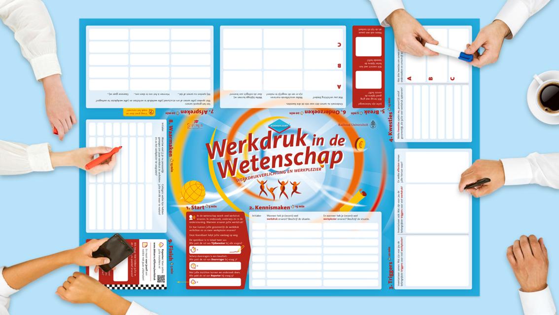 Koerskaart ontwerp Radboud UMC - De Koers - door reclamebureau vdS creatie Breda