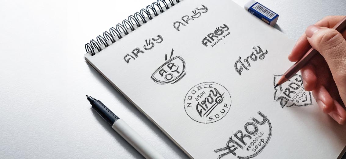 Aroy Noodle Soup logo ontwerp door vdS creatie Reclamebureau Breda