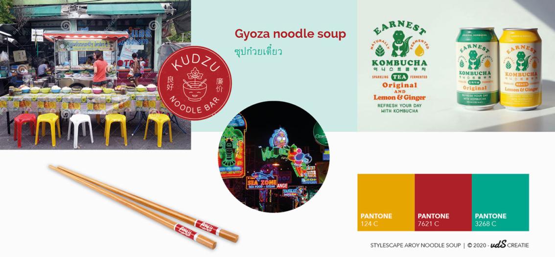 Aroy Noodle Soup huistijlontwikkeling stylescape door vdS creatie Reclamebureau Breda