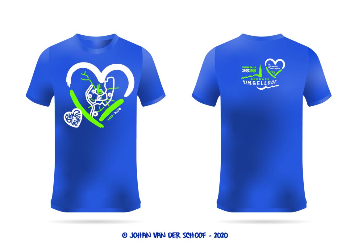Alternatieve Bredase Singelloop loopshirt ontwerp 2020 door Johan van der Schoof