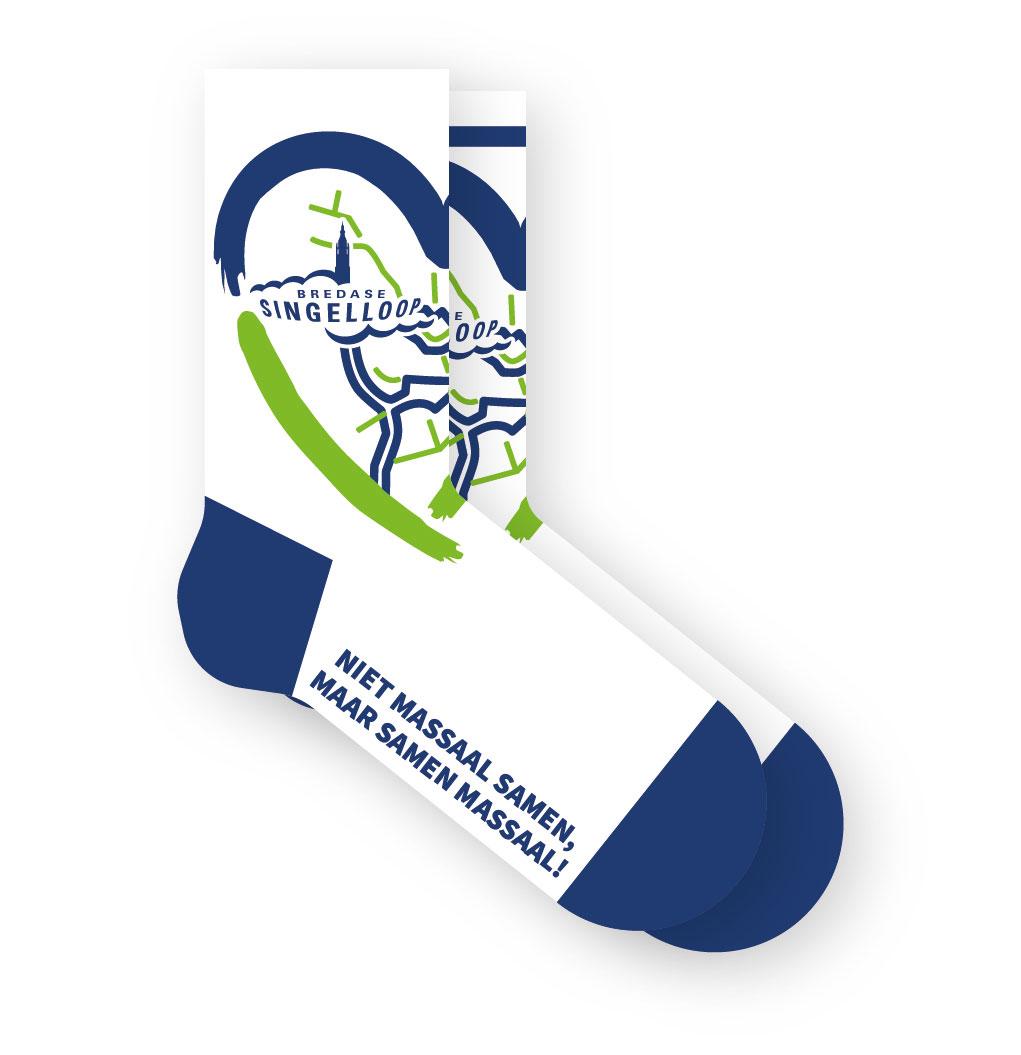 Singelloop Breda City Sockss - ontwerp door Johan van der Schoof