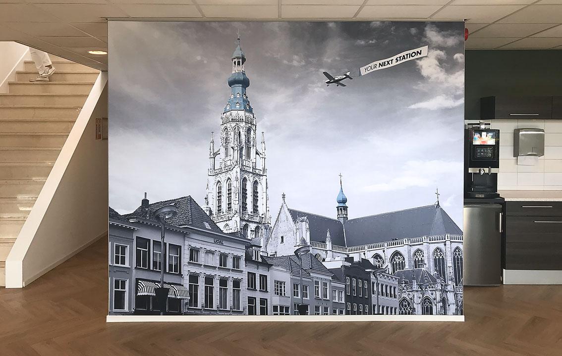 LIQAL - kantooraankleding en wanddecoraties door vdS creatie Reclamebureau Breda