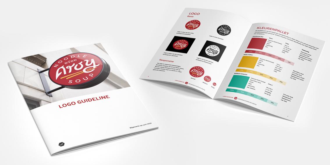 Logo ontwerp vdS creatie Reclamebureau Breda - logo guideline