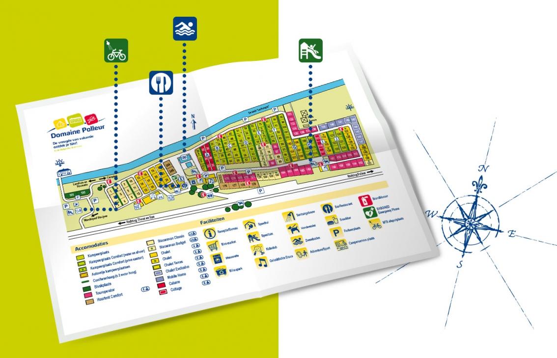 Domaine Polleur plattegrond design ontwerp door vdS creatie Reclamebureau Breda