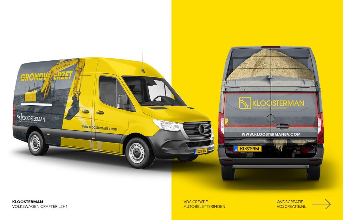 Autobelettering Breda ontwerp Kloosterman BV - door vdS creatie Breda