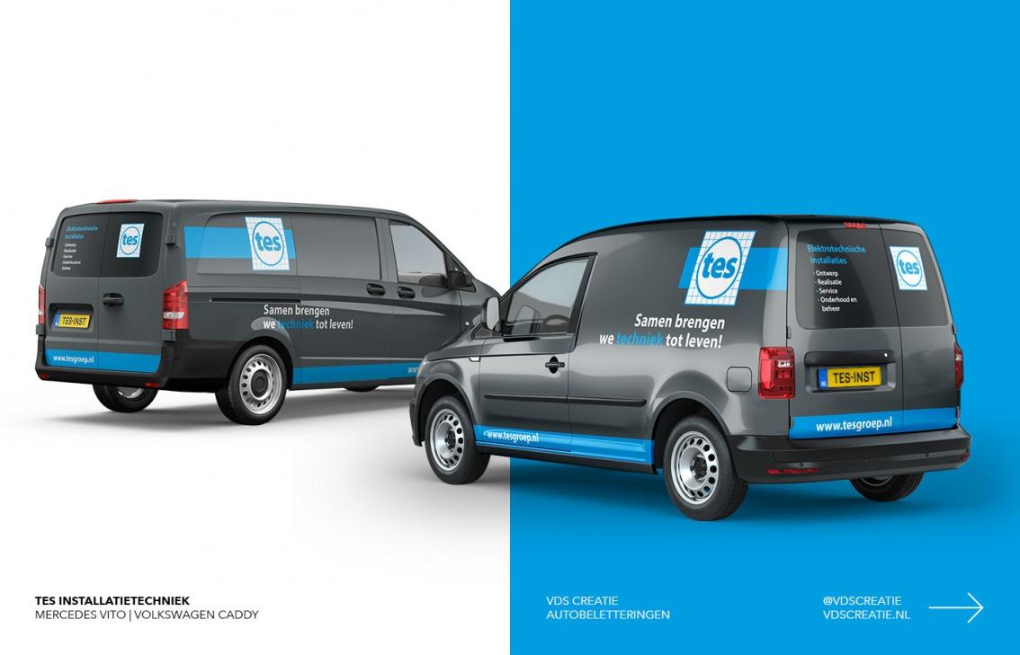 Autobelettering ontwerp Breda - TES Installatietechniek - door vdS creatie Breda