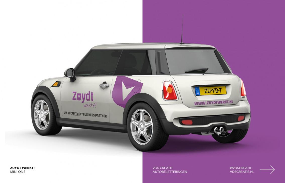 Autobelettering Breda ontwerp Zuydt Werkt! door vdS creatie Breda